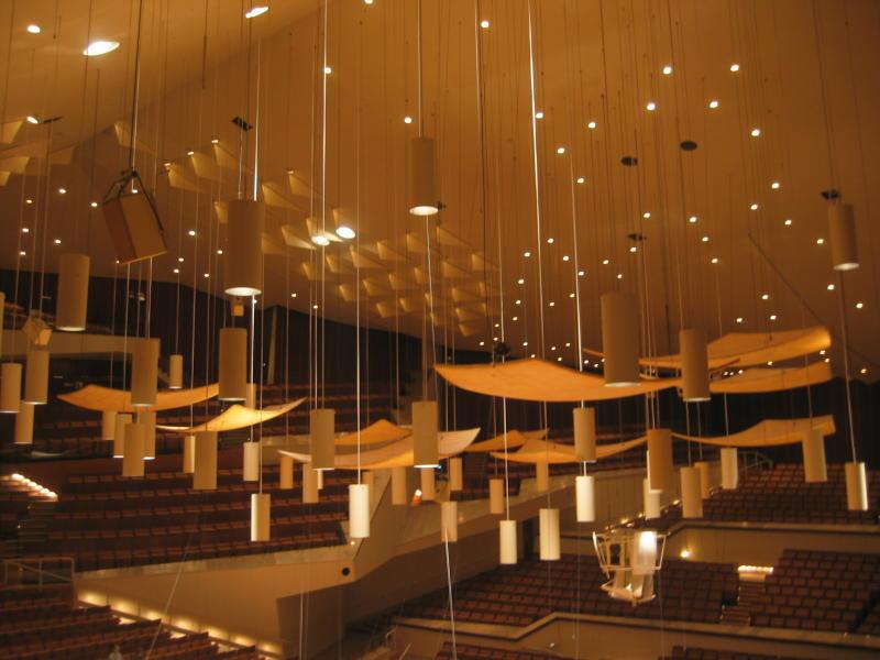 Philharmonie ceiling