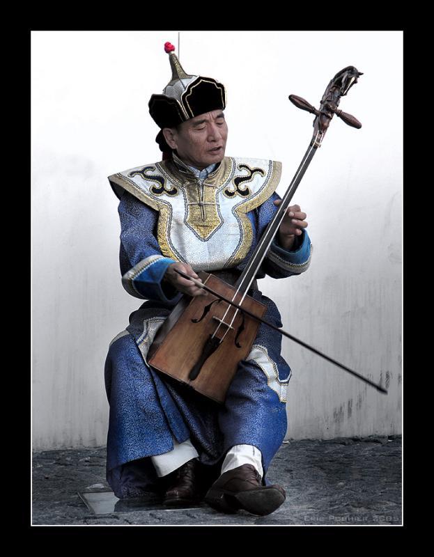 Mongolian musician - Paris
