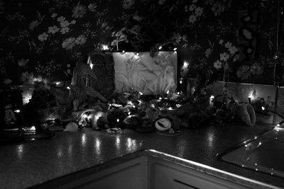 bathroom altar