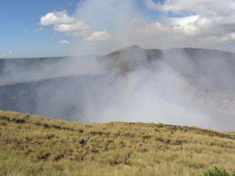at the steaming mouth of Volcan Masaya.....