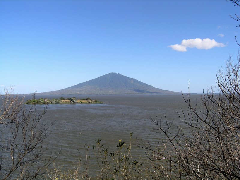 Volcan Maderas, from Charco Verde, on a sunnier day...