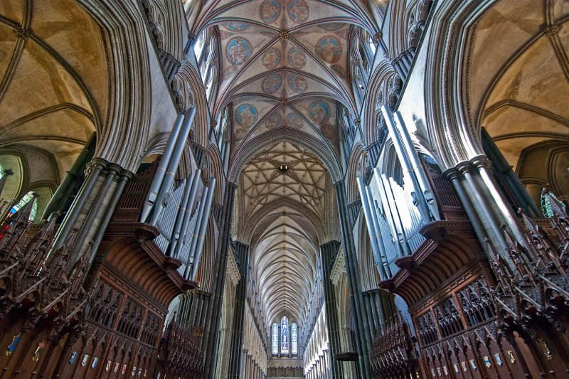 Organ pipes & ceiling, Salisbury Cathedral (1549)