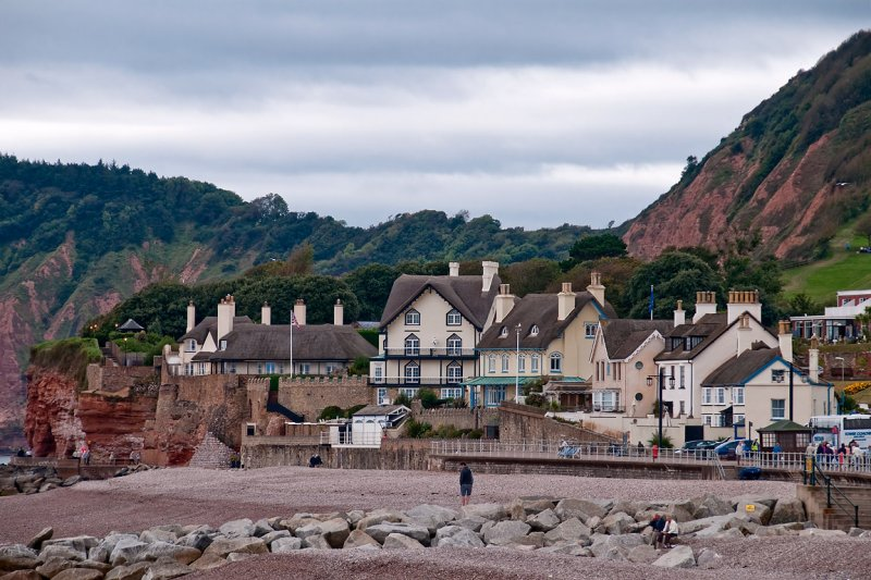 Cliff-top homes, Sidmouth