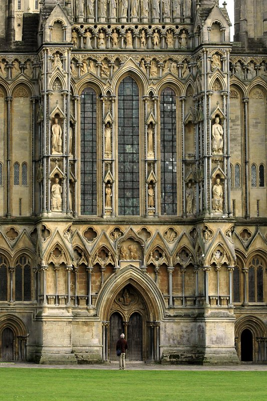 Front face again, Wells Cathedral
