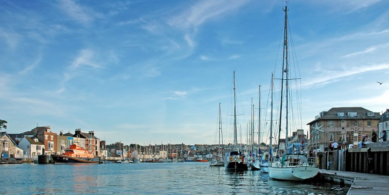 The harbour, (beach side), Weymouth, Dorset