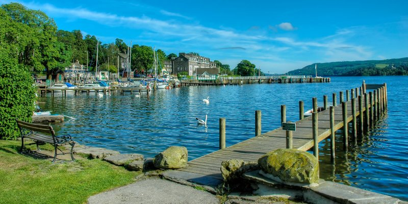 Jetty at The Waters Edge, Ambleside, (2442)