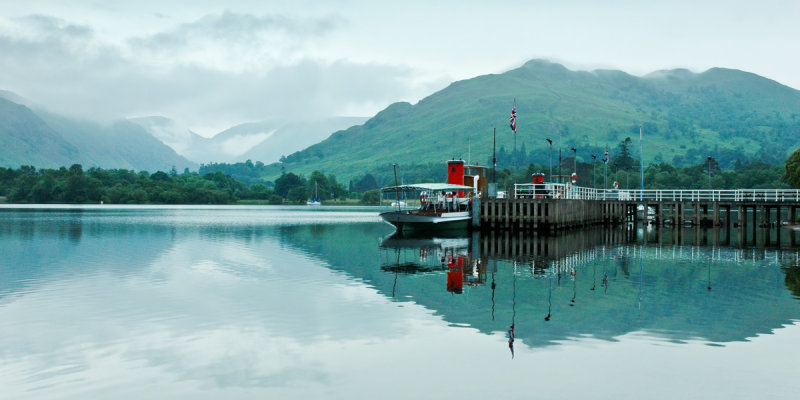 Steamer and quay, Ullswater, Cumbria