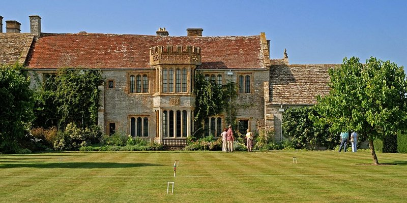 Croquet lawn and house, Lytes Cary Manor