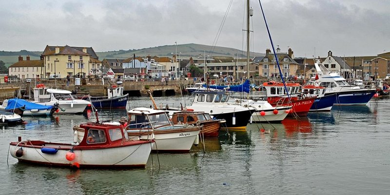Line of boats, West Bay