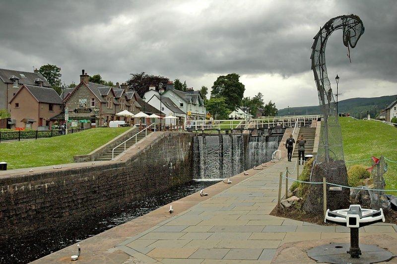 Lock gates, Fort Augustus