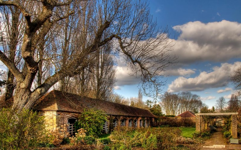 Trees and stables, Barrington (2413)