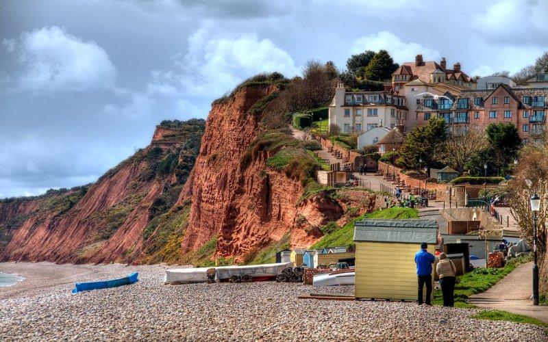 Beach and cliff path, Budleigh Salterton (3315)