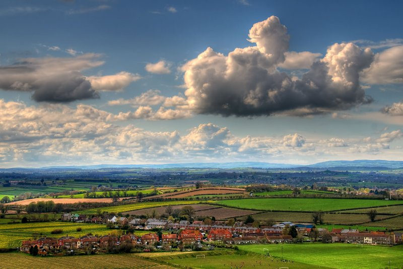 Clouds and football, Stoke-sub-Hamdon