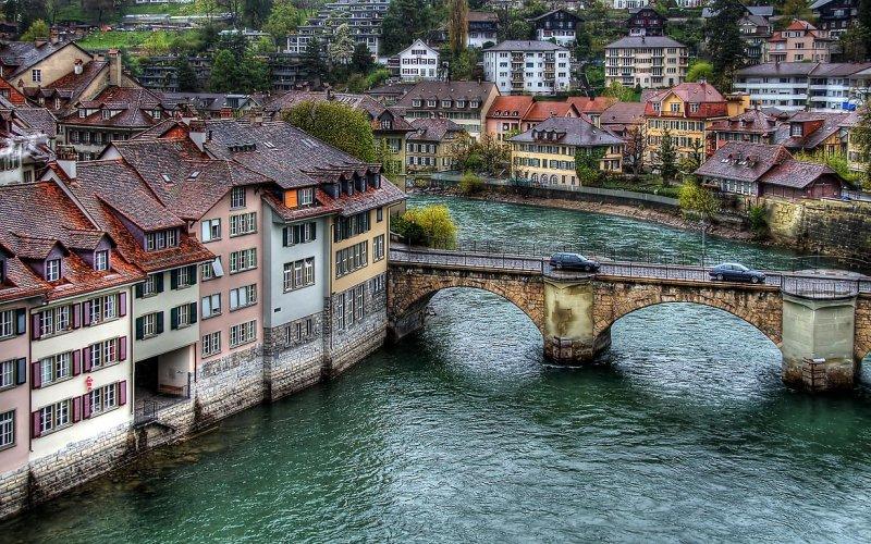River Aare and bridge, Bern