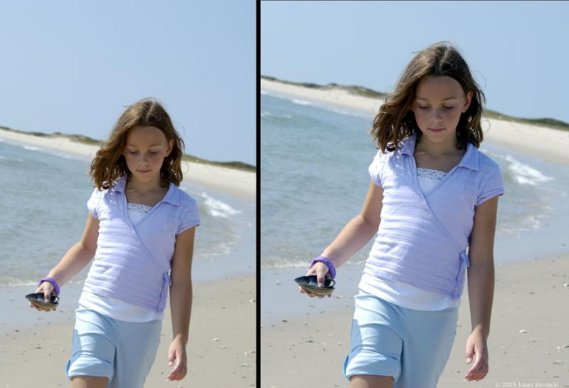 <strong>Honorable Mention:</strong>Girl on Beach (Julian Kornacki)