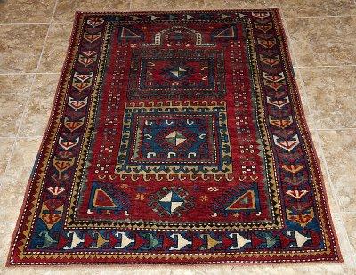 Caucasian prayer carpet, Daghestan (?)