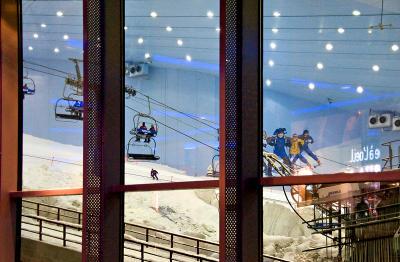 Giant ski run at Mall of the Emirates