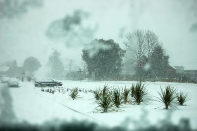 Dangerous driving weather...