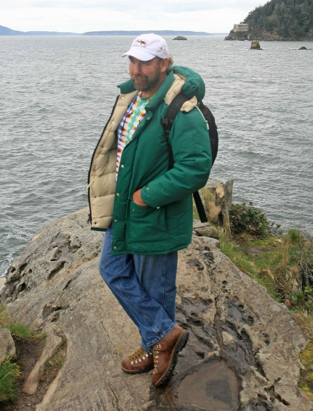 Me Being A  70s  Outdoor Model With Vintage 1975 REI down Parka ANd Boots