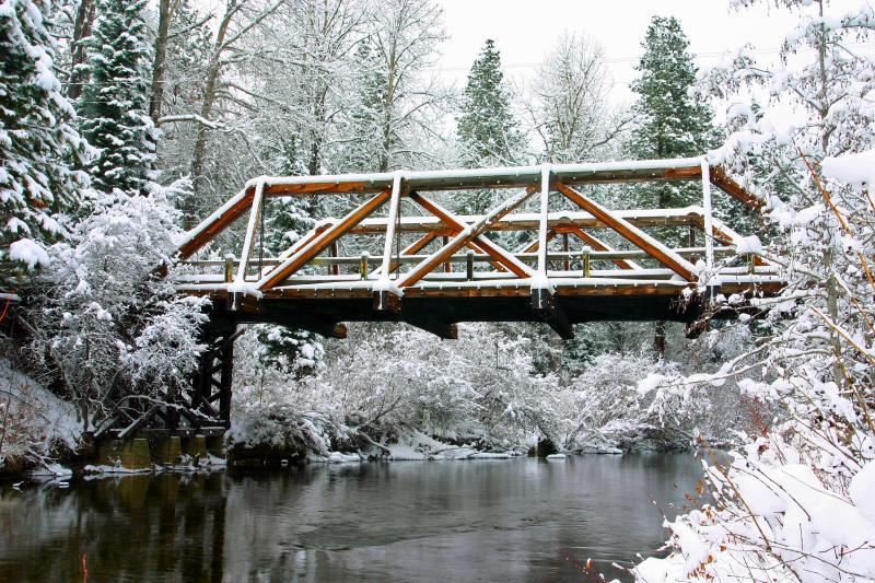 Wooden Bridge over Nason Creek