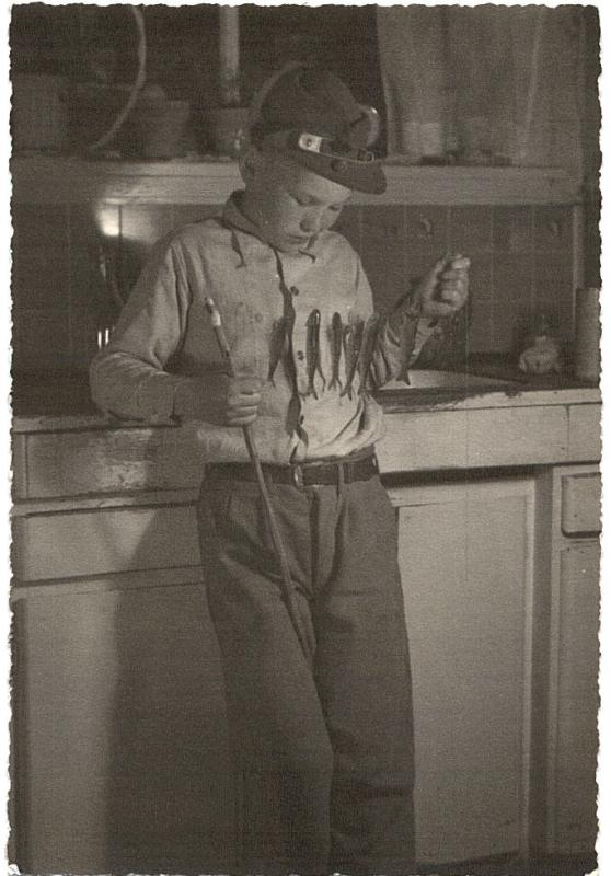 Dad ( Elmer) With Trophy Trout ( 1944)