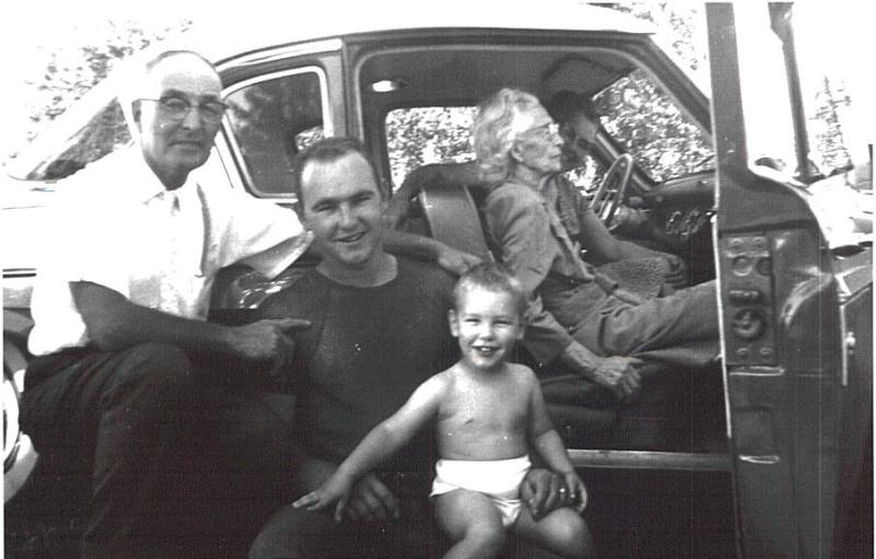 Baby Monte with Dad ( Elmer) and Gramdpa ( Earl)
