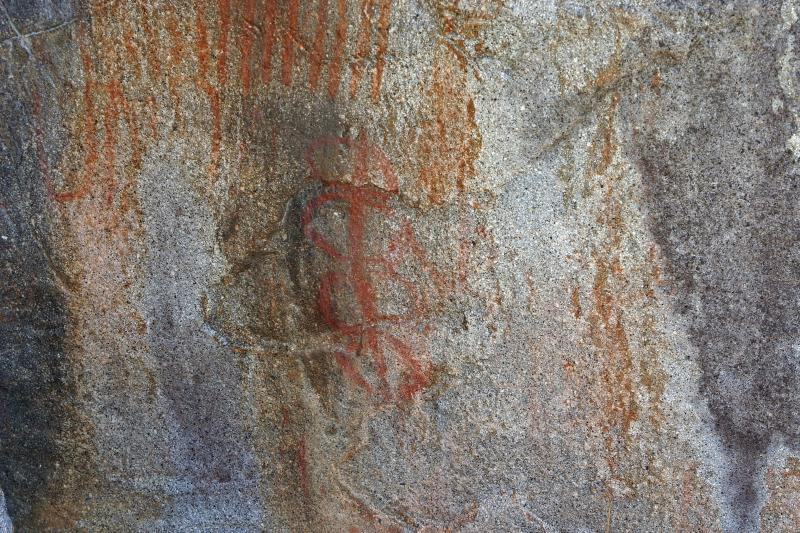 Native Painting on Rock