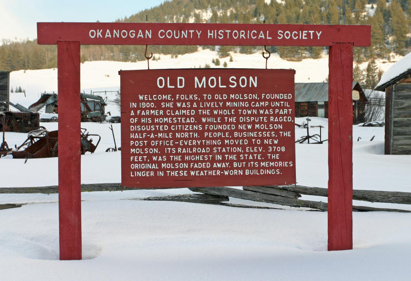 History Sign In Front Of Town