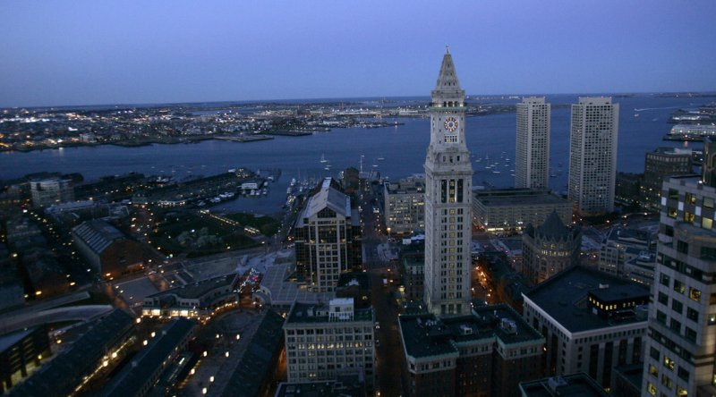 Boston Waterfront and Customs House Tower