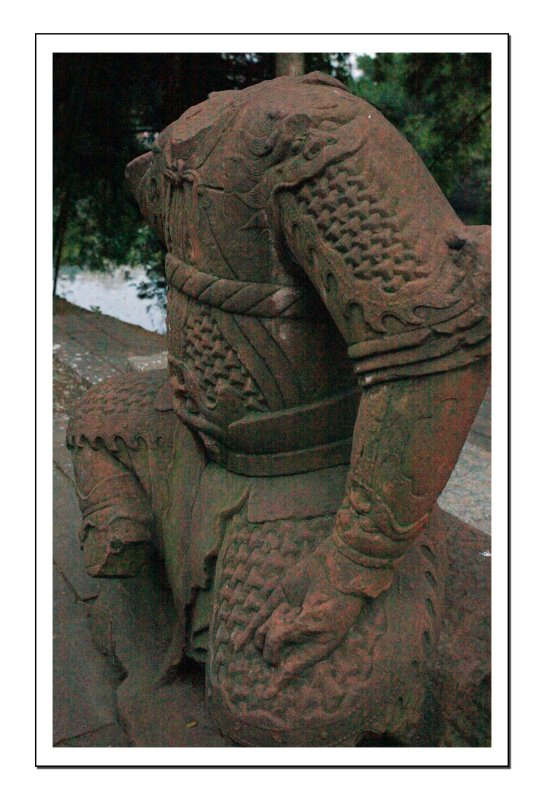 A Headless Statue of a General