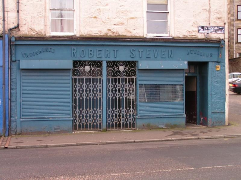 empty blue shop