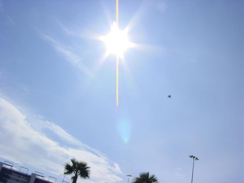 Star in sky along with jet from Neils air base next door to the strip !!!