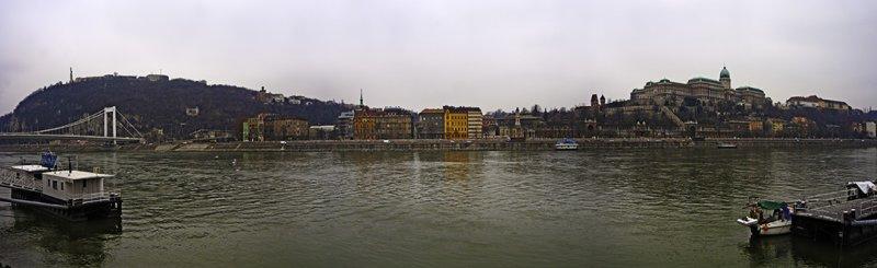 panorama, Budapest-Danube River