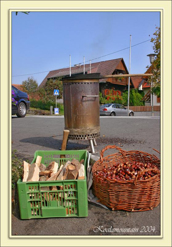 October, time for roasted chestnuts