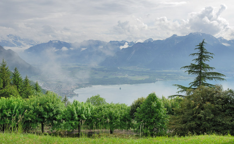 View over the South End of Lake Geneva