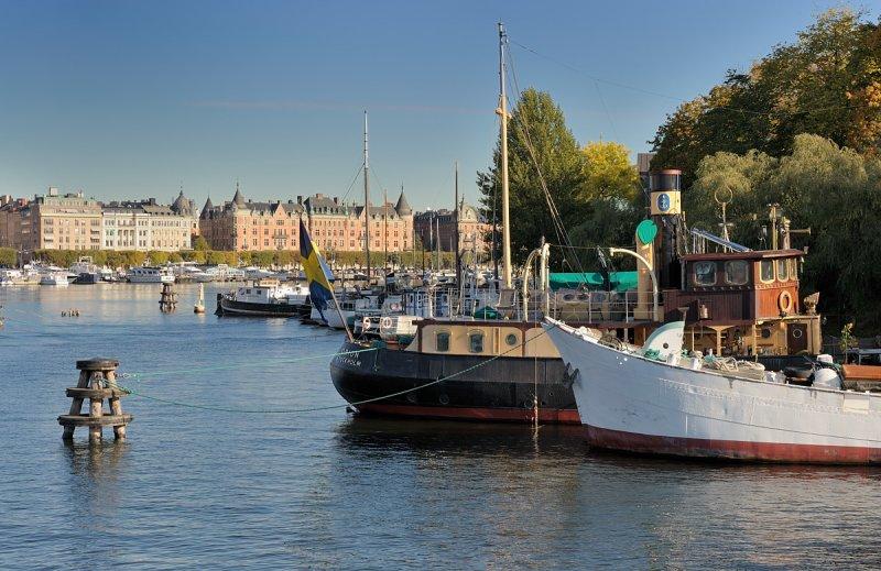 Boats at Skeppsholmen