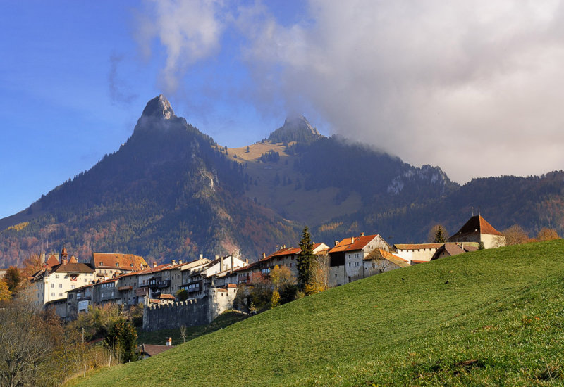 Approaching Old Town Gruyeres