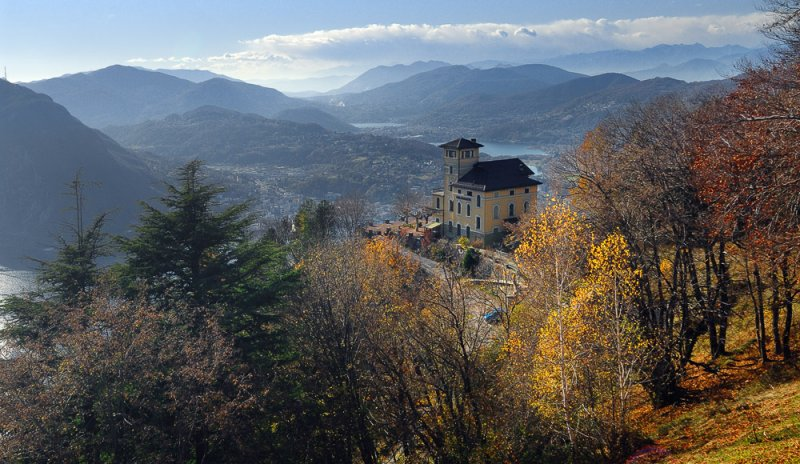 View over Lugano from Monte Bre
