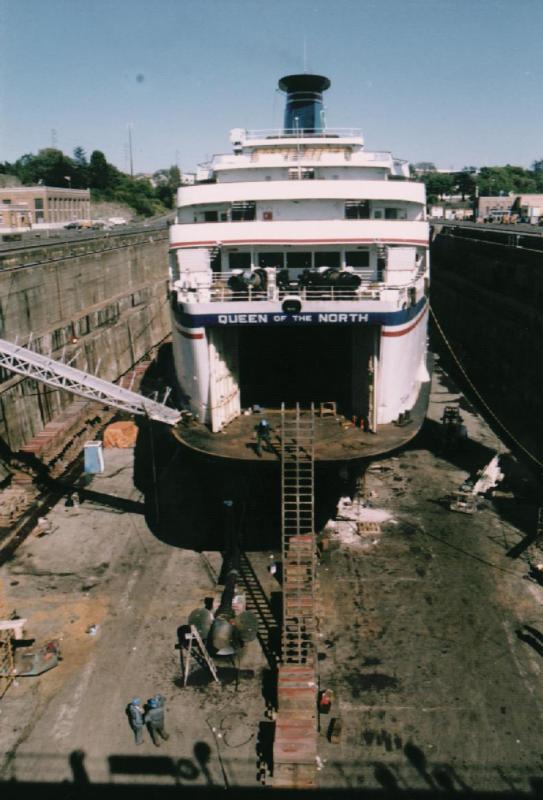Queen of the North at Esquimalt Graving Dock