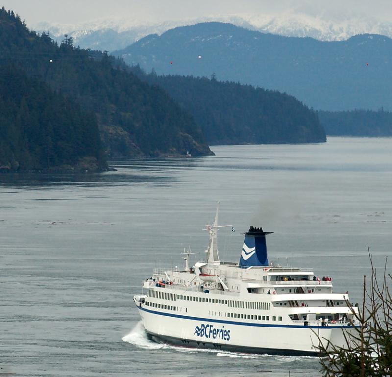 Queen of the North passing through Seymour Narrows