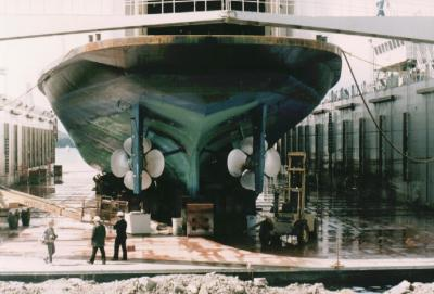 Queen of the North at graving dock