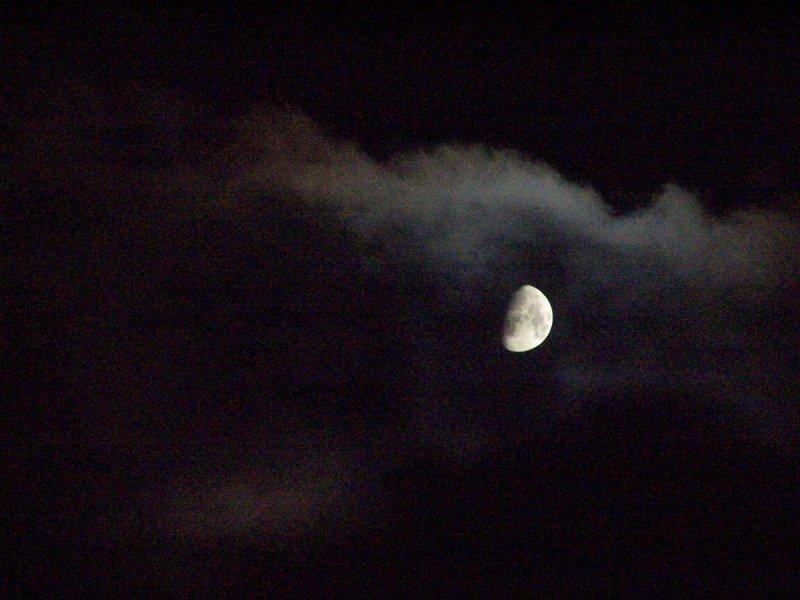 three quarter moon