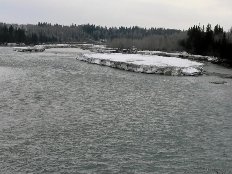 Ice floes on the North Sask. River, Rocky Mt. House