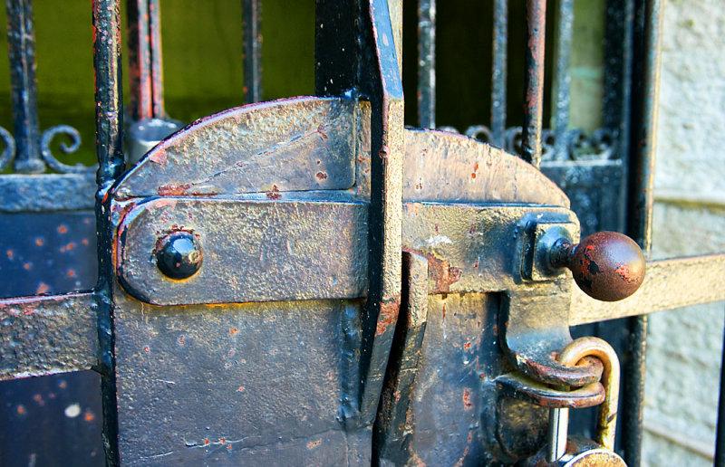 Lock, (Receiving Vault) - Lincolns Tomb; Springfield, Illinois