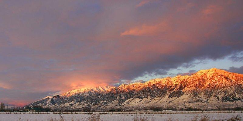 Last Shot of the Day - Sunset, Fresh Snow