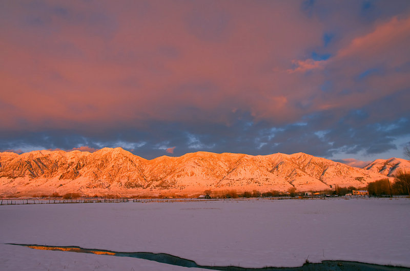 Wellsville Mountains, Wasatch Front (Sun has set)