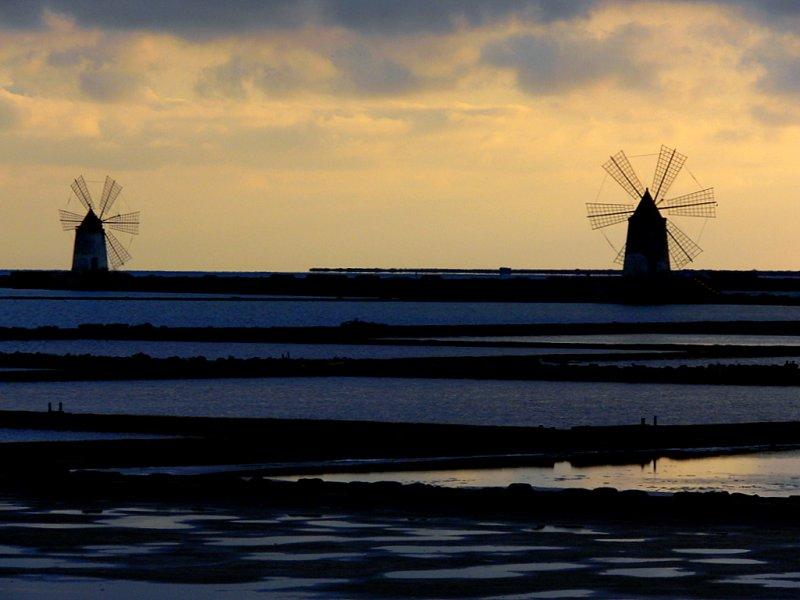 Salt fields in Trapani
