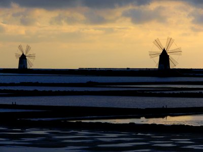 Salt fields in Trapani