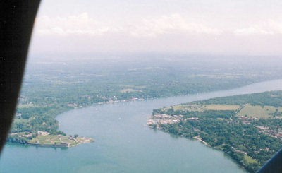 mouth of the Niagara River from the north
