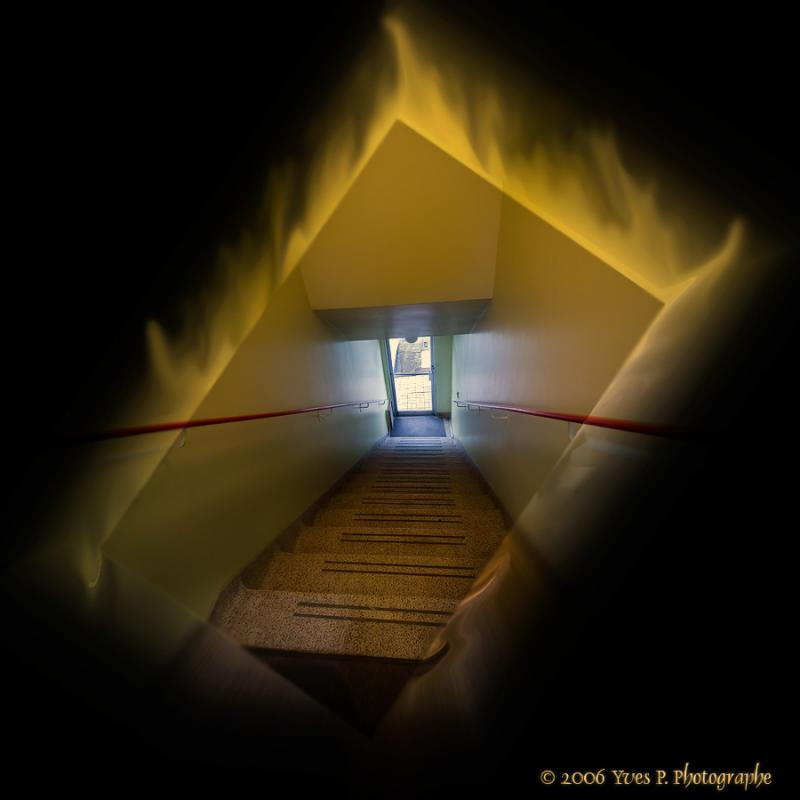 Stairway on fire ...